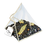 Om Tea Hot Cinnamon Spice Tea Chai Latte Premium Quality Chai Teas In Handcrafted Pyramid Tea Sachets Pyramid Tea Bags Organic Cotton Thread Natural Ingredients Box 70% Recycled Paper Non-Toxic Soy Ink