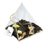 Om Tea Ginger Cardamom Chai Latte Premium Quality Chai Teas In Handcrafted Pyramid Tea Sachets Pyramid Tea Bags Organic Cotton Thread Natural Ingredients Box 70% Recycled Paper Non-Toxic Soy Ink