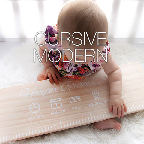 Birth Ruler - Cursive Modern