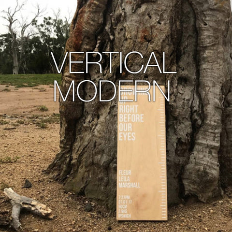 Birth Ruler - Vertical Modern
