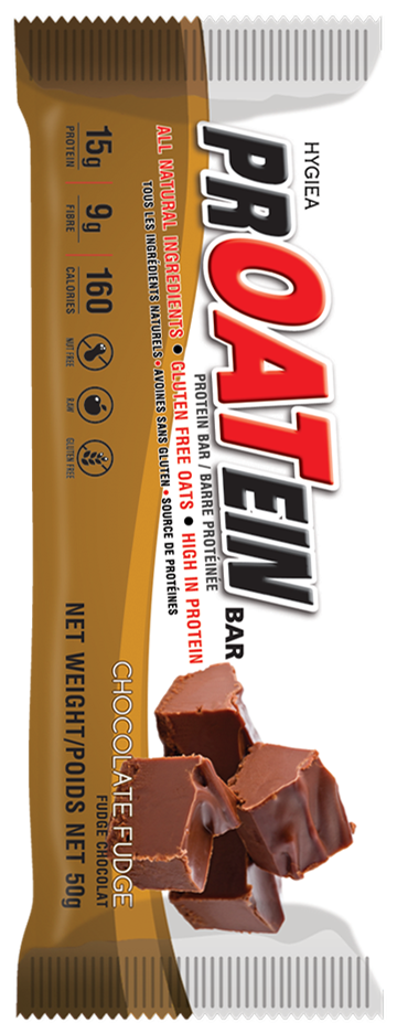 chocolate fudge protein bar made by proatein