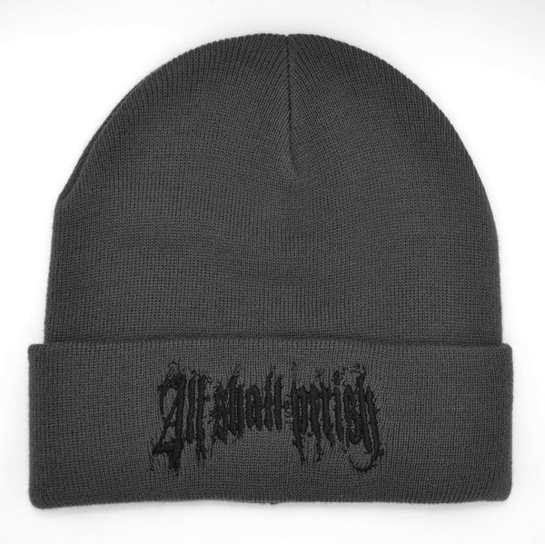 All Shall Perish - Grey Beanie Black Logo