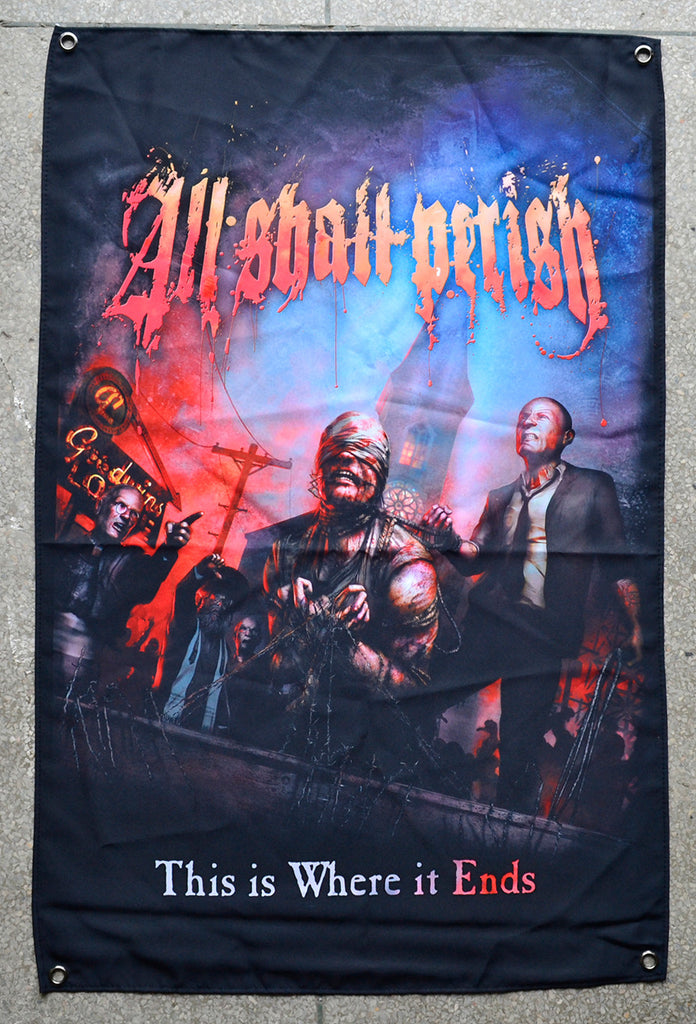 All Shall Perish This Is Where It Ends Wall Flag