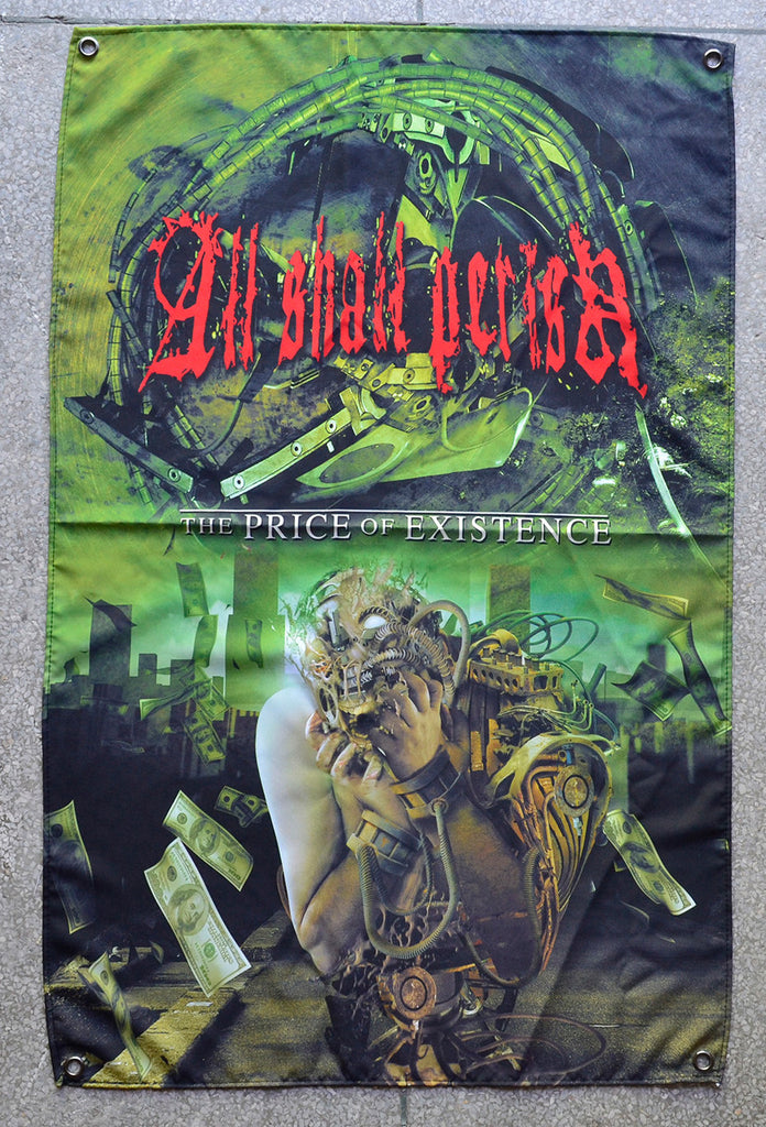 All Shall Perish The Price of Existence Wall Flag