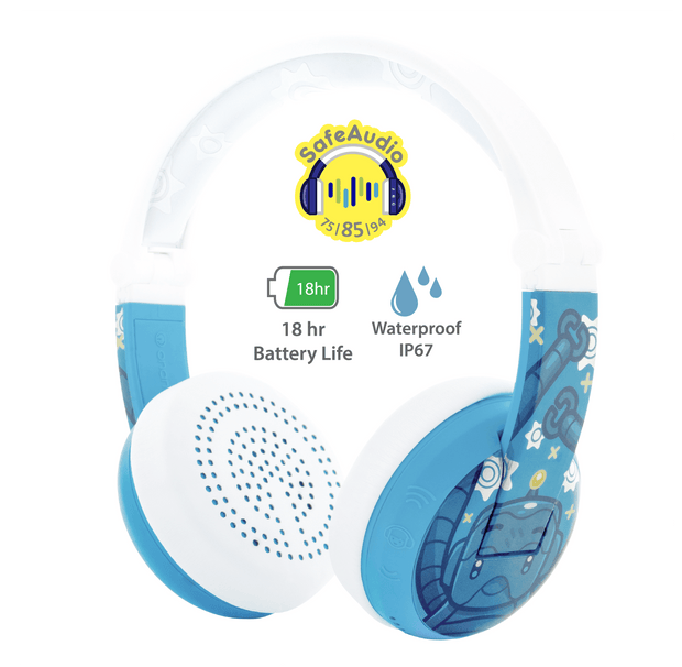 BuddyPhones blue wave headphones for boys