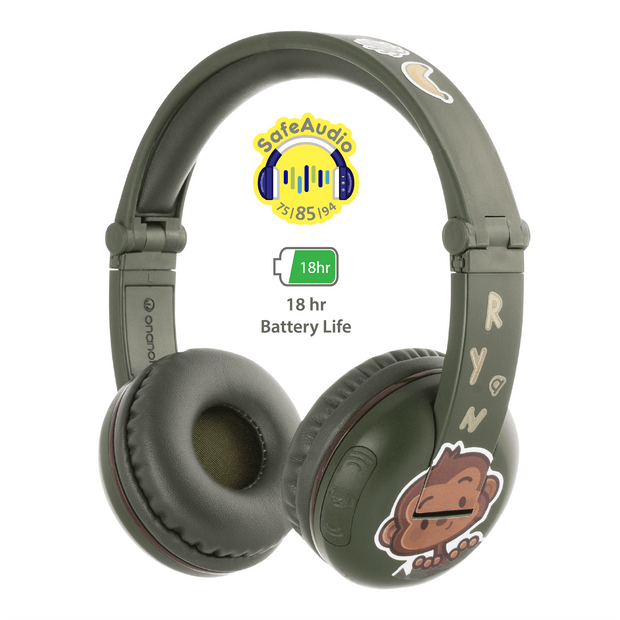BuddyPhones Green Play Headphone for boys