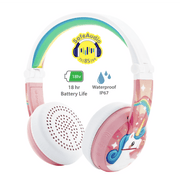 BuddyPhones pink wave headphones for girls