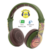 BuddyPhones green wave headphones for boys