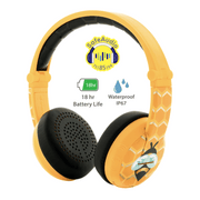 BuddyPhones yellow wave headphones for girls