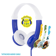 BuddyPhone Connect Blue Headphones