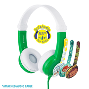 BuddyPhone Connect Green Headphones