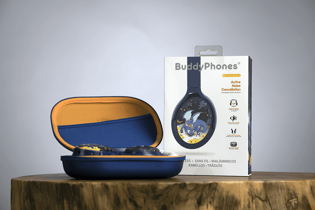 BuddyPhones Cosmos Blue Dragon Headphones