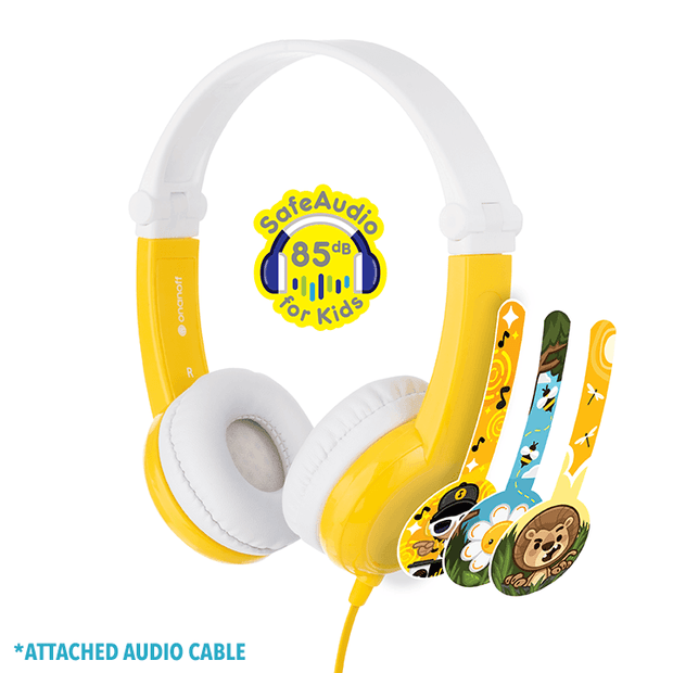 BuddyPhone Connect Yellow Headphones