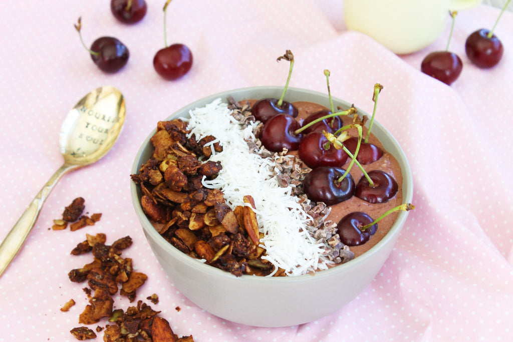 Cherry Ripe Smoothie Bowl With Live Love Nourish