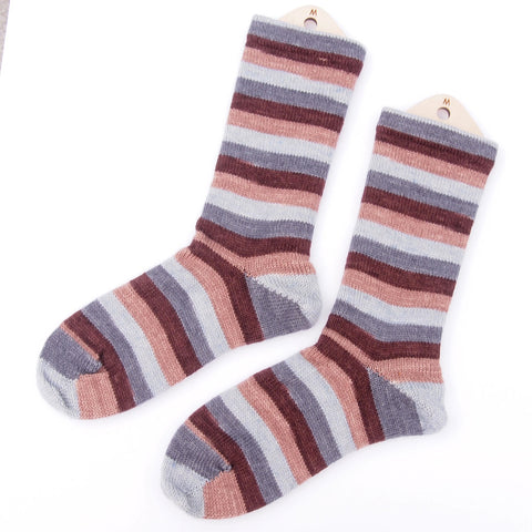 Self-Striping Sock - Ironwood