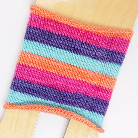 Self-Striping Sock - Acrobat Peach