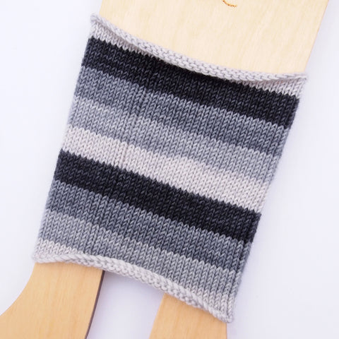 Self-Striping Sock - Black, White, Read All Over v.1