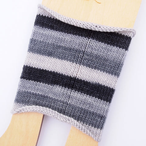Self-Striping Sock - Black, White, Read All Over v.2