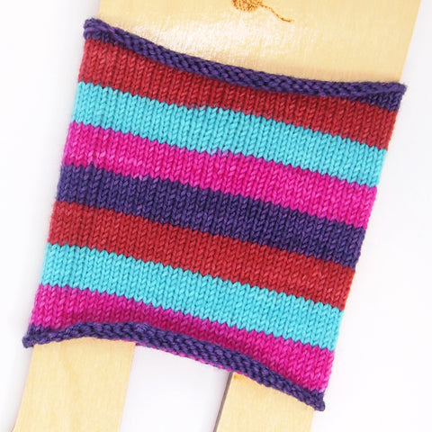 Self-Striping Sock - Flight of the Flamingos