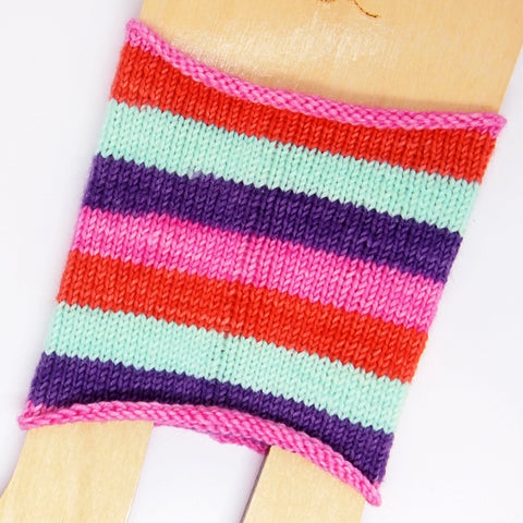 Self-Striping Sock - Peekaboo Pony