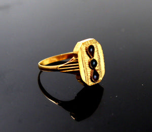 "22k 22ct Solid Gold BEAUTIFUL BABY Ring Enamel SIZE 0.9 ""RESIZABLE"" r1232"