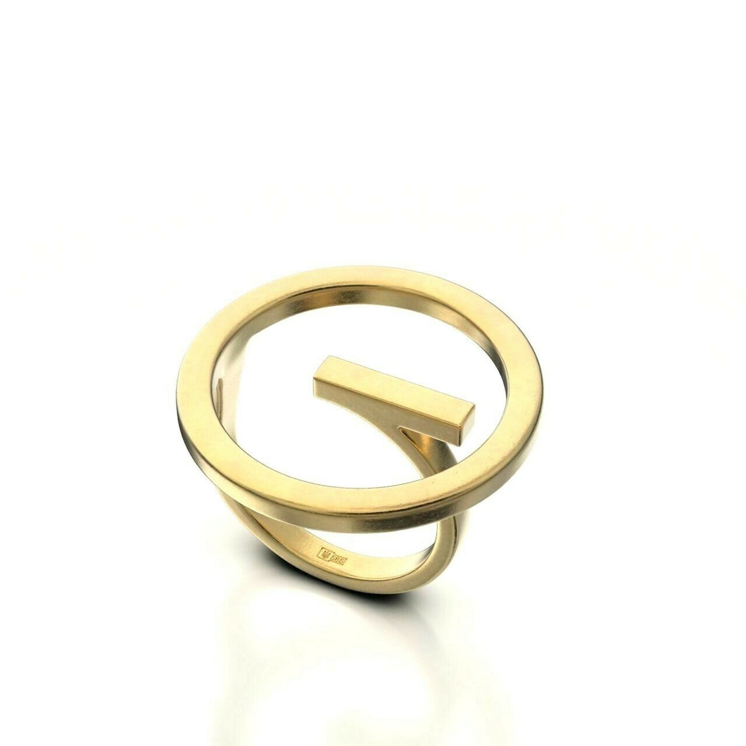 22k Ring Sold Yellow Gold Ladies Jewelry Simple Round Ring Design CGR51