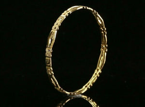 22k Bangle Solid Gold ELEGANT Children Simple Bangle Size 1.6 inch CB1215