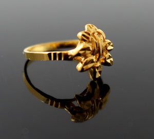 "22k 22ct Solid Gold BEAUTIFUL BABY CHILD Ring BAND ""RESIZABLE"" R1187 - Royal Dubai Jewellers"