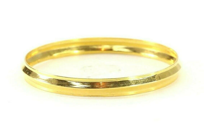 22k Bangle Solid Gold Simple Children Plain High Polished Kara Bangle cb1336