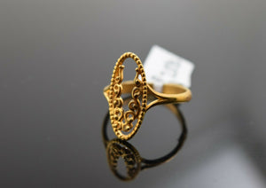 22k Ring Solid Gold Elegant Charm Floral Ladies Ring Size R2032 mon