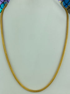 22k Chain Solid Gold Men Jewelry Round Shape Foxtail Pattern Design C0217 - Royal Dubai Jewellers