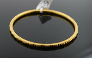 22k Solid Gold ELEGANT BABY CHILDREN BANGLE Classic Diamond Cut Designcb1319