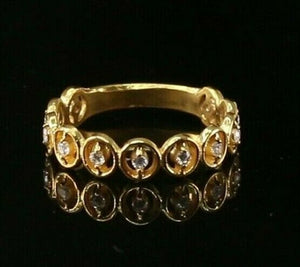 "22k Ring Solid Gold ELEGANT Charm Ladies Simple Ring SIZE 7.8 ""RESIZABLE"" r2095 - Royal Dubai Jewellers"