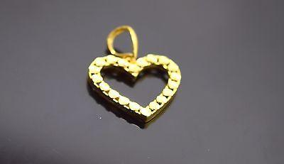 22k 22Ct Solid Gold ELEGANT Charm Heart shape pendant locket free box  p191 - Royal Dubai Jewellers