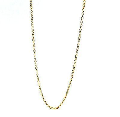 22k 22ct Yellow Solid Gold BELCHER ROLO Chain Necklace 1.1mm c248 - Royal Dubai Jewellers