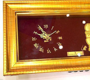 3D RAISED 24kt Solid Gold Hindu SHRI GANESH Ganpati Watch clock Statue - Royal Dubai Jewellers