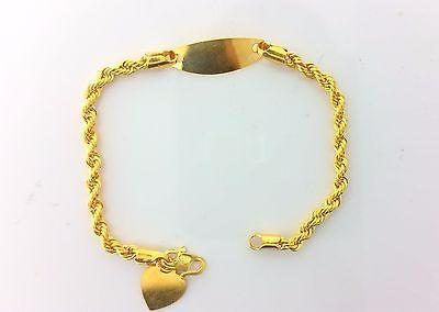 22k Solid Gold Baby Bracelet with elegant box length 5 Inch 9272 - Royal Dubai Jewellers