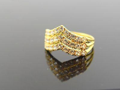22k 22ct Solid Gold ELEGANT STONE Ring with Box
