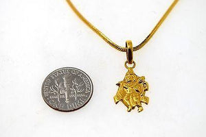 22k 22ct Solid Gold ELEGANT HINDU RELIGIOUS GOD HANUMAN JI LOCKET Pendant P589 - Royal Dubai Jewellers