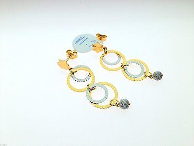 22k 22ct Solid Gold Long Round Hanging Earrings Diamond Cut c16 - Royal Dubai Jewellers