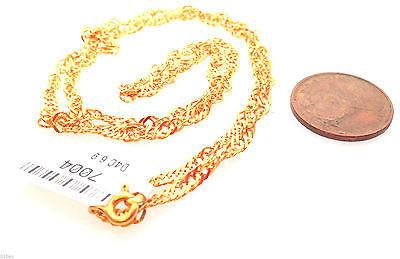 22k 22ct Solid Gold Long DISCO chain Elegant Unique Necklace Diamond cut - Royal Dubai Jewellers