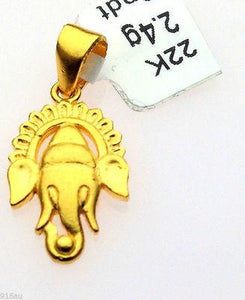 22k 22ct Solid Gold Hindu Religious God Shri Ganesh Ganpati 116 - Royal Dubai Jewellers