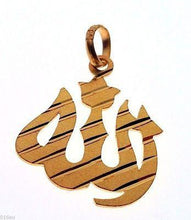 22k Solid Yellow Gold Allah Pendant Charm muslim Diamond Cut aa - Royal Dubai Jewellers