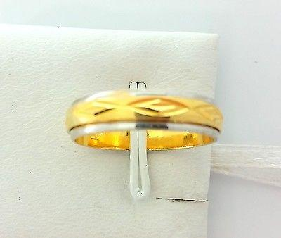 22k Solid Gold Ring Size 9 custom size available with unique box mf - Royal Dubai Jewellers