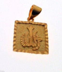 22k Solid Yellow Gold Allah Pendant Charm muslim Diamond Cut B2 - Royal Dubai Jewellers