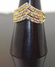 "22k 22ct Solid Gold ELEGANT STONE Ring with Box ""RESIZABLE"" R459 - Royal Dubai Jewellers"