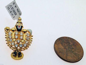 22k 22ct Solid Gold Hindu Religious Lord Tirupati Balaji India Pendant 0094 - Royal Dubai Jewellers
