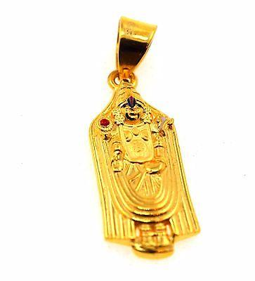 22k 22ct Solid Gold SOUTH Religious Lord Tirupati Bala ji pendant p514 - Royal Dubai Jewellers