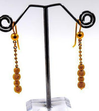 22k 22ct Solid Gold LONG BALL Hanging Earrings with BOX E1206 - Royal Dubai Jewellers