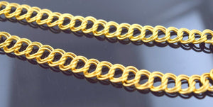 22k 22ct Solid Gold DOUBLE STYLISH CURB MEN THICK CHAIN LENGHT:20 c516 - Royal Dubai Jewellers